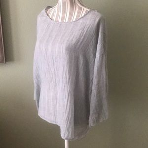 Worn once, Dylan Gauze Blouse Gray
